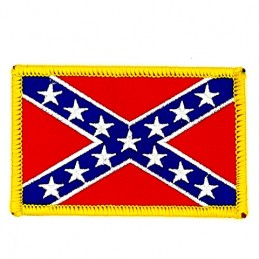 Confederate Flag Thermo Patch