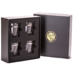 Set of 4 glasses with...