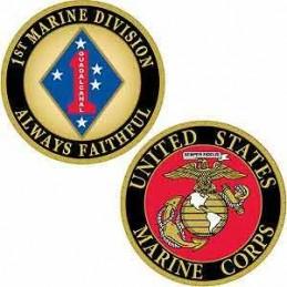 Challenge Coin USMC 1st...